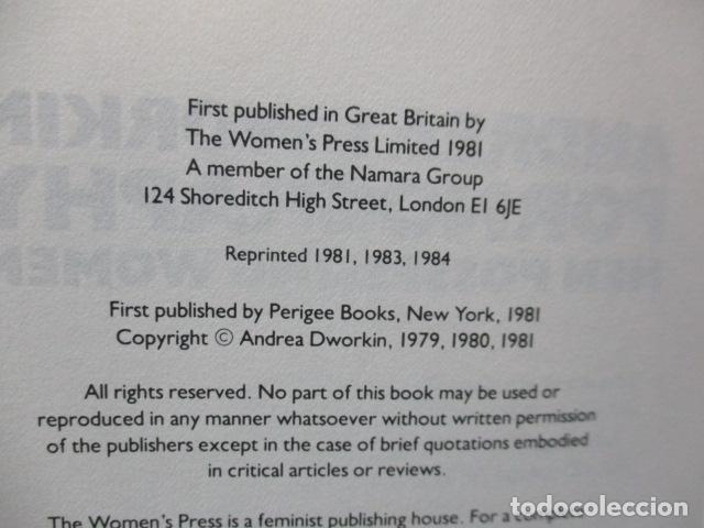 Libros de segunda mano: Pornography - Men Possessing Women by Andrea Dworkin, de Andrea Dworkin (EN INGLES) - Foto 10 - 120095299