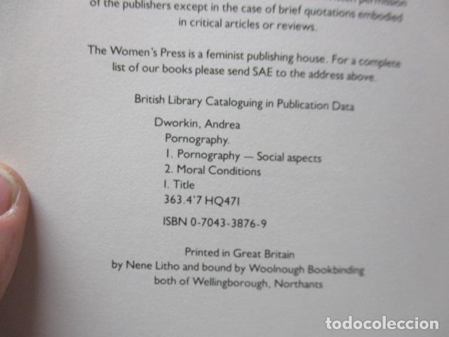 Libros de segunda mano: Pornography - Men Possessing Women by Andrea Dworkin, de Andrea Dworkin (EN INGLES) - Foto 11 - 120095299