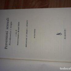 Libros de segunda mano: PERVERSIONI SESSUALI 1959 ITALIANO. Lote 125217283