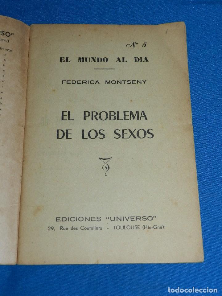 Libros de segunda mano: (MF) FEDERICA MONTSENY - PROBLEMA DE LOS SEXOS , EL MUNDO AL DIA NUM 5 , EDC UNIVERSO, TOULOUSE - Foto 2 - 128328835