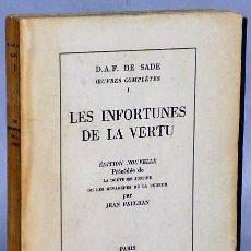 Libros de segunda mano: LES INFORTUNES DE LA VERTU. Lote 133781086