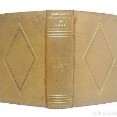 Libros de segunda mano: 1942 - ENCUADERNACIÓN FIRMADA - BREVIARIO DE LA NOVELA DE AMOR. +1500 PÁGINAS EN PAPEL BIBLIA - PIEL. Lote 147941942
