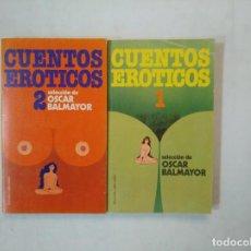 Libros de segunda mano: CUENTOS ERÓTICOS 1 Y 2. BRUGUERA LIBRO AMIGO Nº 517 Y 572. TDK369. Lote 151934810