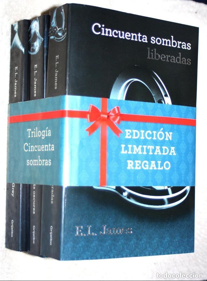 TRILOGIA CINCUENTA SOMBRAS (DE GREY) DE E.L.JAMES (NUEVOS, PRECINTO DE REGALO) (Libros de Segunda Mano (posteriores a 1936) - Literatura - Narrativa - Erótica)