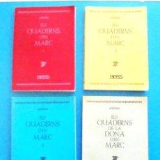 Libros de segunda mano: ELS QUADERNS D'EN MARC 1-2-3 + ELS QUADERNS DE LA DONA D'EN MARC IMPECABLES 1A ED 1984 EL LLAMP. Lote 158270430