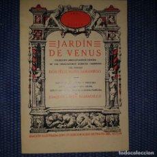 Libros de segunda mano: SAMANIEGO: JARDÍN DE VENUS. CUENTOS LIBERTINOS. Lote 167083628