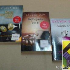 Libros de segunda mano: DAY, SYLVIA: NO TE ESCONDO NADA/REFLEJADA EN TÍ/ATADA A TÍ (3 VOLS) TRILOGÍA CROSSFIRE .... Lote 168729972