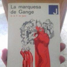 Libros de segunda mano: MARQUÉS DE SADE- LA MARQUESA DE GANGE EDICION 1969. Lote 173601713