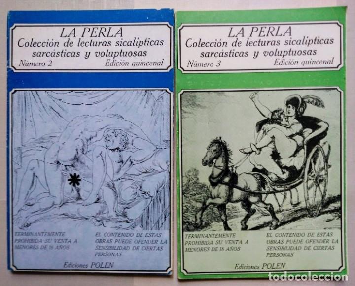 LOTE LA PERLA Nº 2 Y 3 ED POLEN 1979 (Libros de Segunda Mano (posteriores a 1936) - Literatura - Narrativa - Erótica)