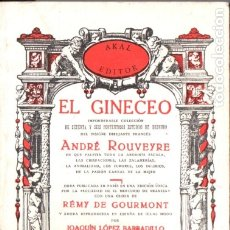 Libros de segunda mano: ANDRÉ ROUVEYRE : EL GINECEO (LÓPEZ BARBADILLO, 1977). Lote 176837914