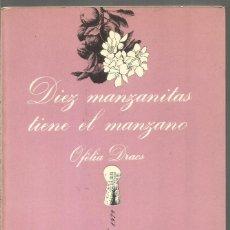 Libros de segunda mano: OFELIA DRACS. DIEZ MANZANITAS TIENE EL MANZANO. TUSQUETS LA SONRISA VERTICAL. PRIMERA EDICION. Lote 179016423