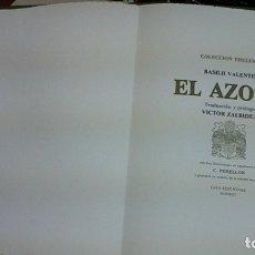 Libros de segunda mano: VALENTIN BASILII ... EL AZOTH ... 1977. Lote 179101575