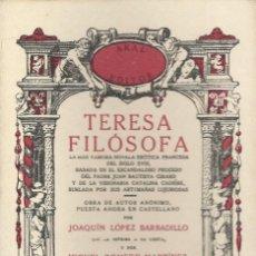 Libros de segunda mano: TERESA FILÓSOFA, OBRA ANÓNIMA FRANCESA. Lote 185727092