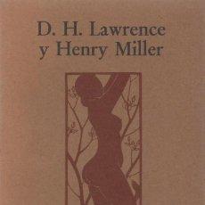 Libros de segunda mano: PORNOGRAFÍA Y OBSCENIDAD, D.H. LAWRENCE & HENRY MILLER. Lote 185764110