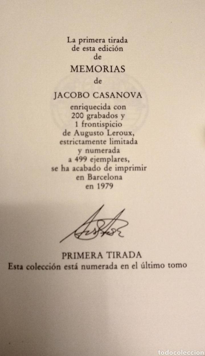 Libros de segunda mano: MEMORIAS DE JACOBO CASANOVA DE SEINGALT. Círculo del Bibliófilo, 1979. Obra completa, 6 tomos. - Foto 2 - 194339752
