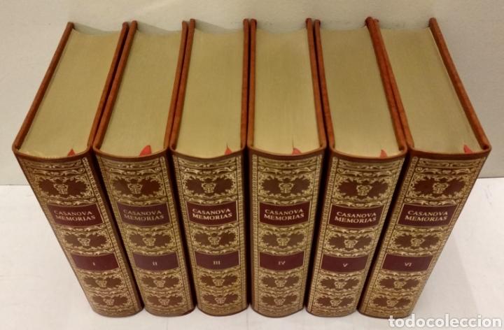 Libros de segunda mano: MEMORIAS DE JACOBO CASANOVA DE SEINGALT. Círculo del Bibliófilo, 1979. Obra completa, 6 tomos. - Foto 4 - 194339752