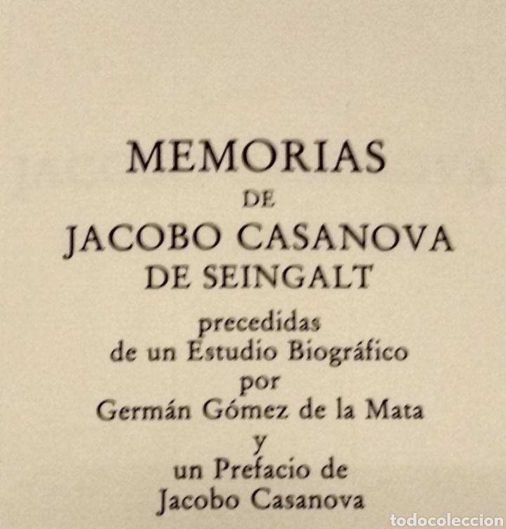 Libros de segunda mano: MEMORIAS DE JACOBO CASANOVA DE SEINGALT. Círculo del Bibliófilo, 1979. Obra completa, 6 tomos. - Foto 7 - 194339752