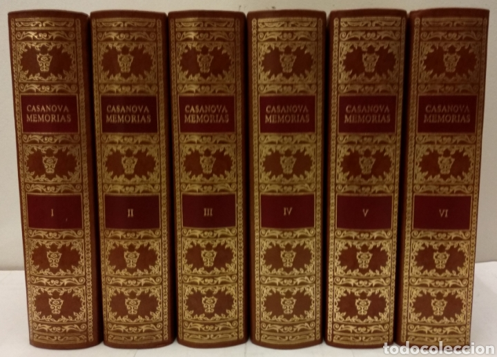 CASANOVA DE SEINGALT, JACOBO. MEMORIAS. CÍRCULO DEL BIBLIÓFILO, 1979. OBRA COMPLETA, 6 TOMOS. (Libros de Segunda Mano (posteriores a 1936) - Literatura - Narrativa - Erótica)
