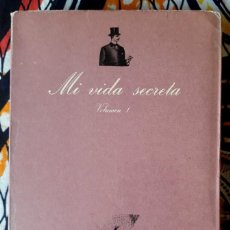 Libros de segunda mano: ANÓNIMO . MI VIDA SECRETA 1 . TUSQUETS. Lote 195263245