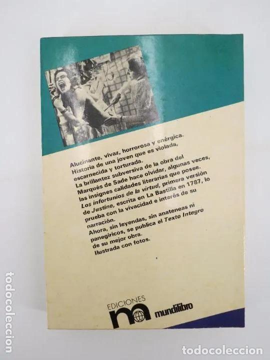 Libros de segunda mano: COL. OTRO PRISMA. LOS INFORTUNIOS DE LA VIRTUD (Marqués De Sade) Mundilibro, 1977. OFRT - Foto 2 - 195352328