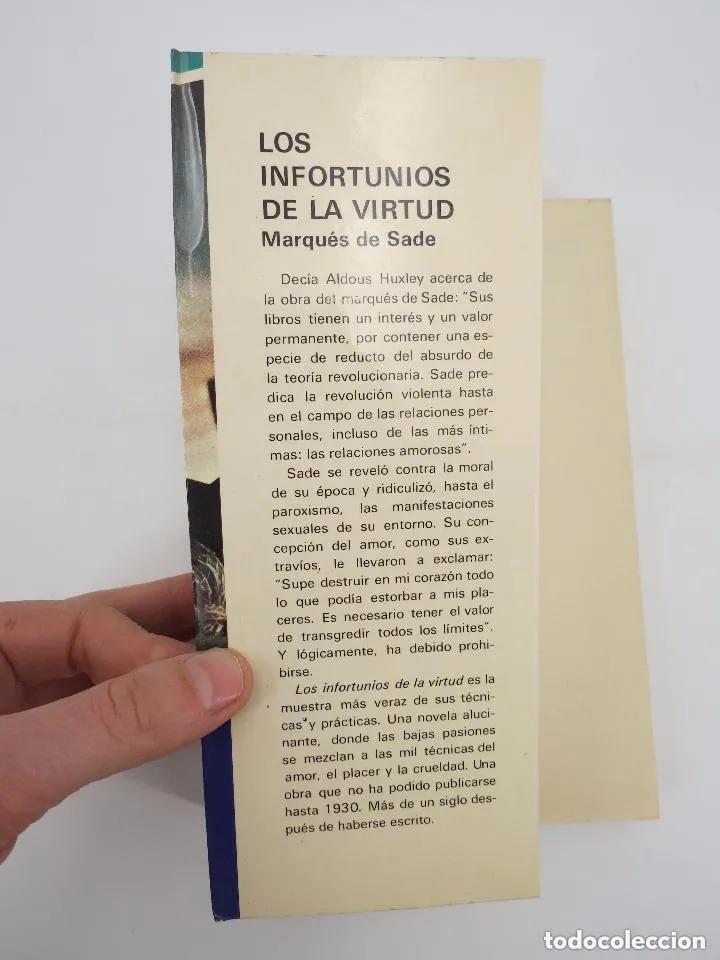 Libros de segunda mano: COL. OTRO PRISMA. LOS INFORTUNIOS DE LA VIRTUD (Marqués De Sade) Mundilibro, 1977. OFRT - Foto 3 - 195352328