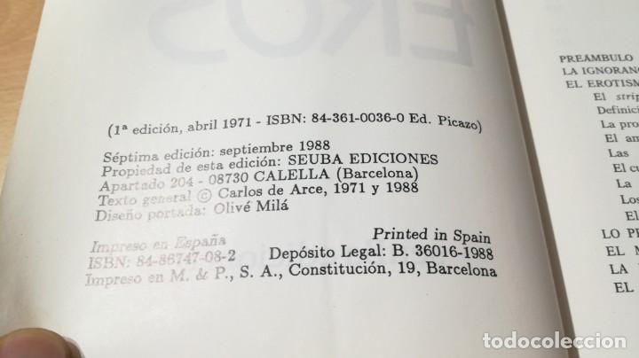 Libros de segunda mano: HISTORIA DEL EROTISMO - CARLOS DE ARCE - EL INSACIABLE EROSI603 - Foto 7 - 195661162