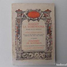 Libros de segunda mano: LIBRERIA GHOTICA. FOUGERET DE MONTBRON. MARGOT LA REMENDONA. AKAL EDITOR 1978.FACSÍMIL.ILUSTRADO. Lote 199216010