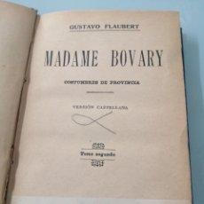 Libros de segunda mano: MADAME DE BOVARY. GUSTAVO FLAUBERT. TOMO SEGUNDO. CIRCA 1950.. Lote 202542492