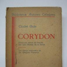 Libros de segunda mano: MUY RARA EDICION MUNDO NUEVO CHILE 1938 - CORYDON ANDRE GIDE - GAY INT. ENSAYOS SOBRE HOMOSEXUALIDAD. Lote 204508111