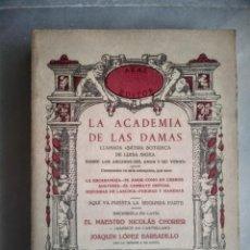 Livres d'occasion: LA ACADEMIA DE LAS DAMAS. Lote 207659503