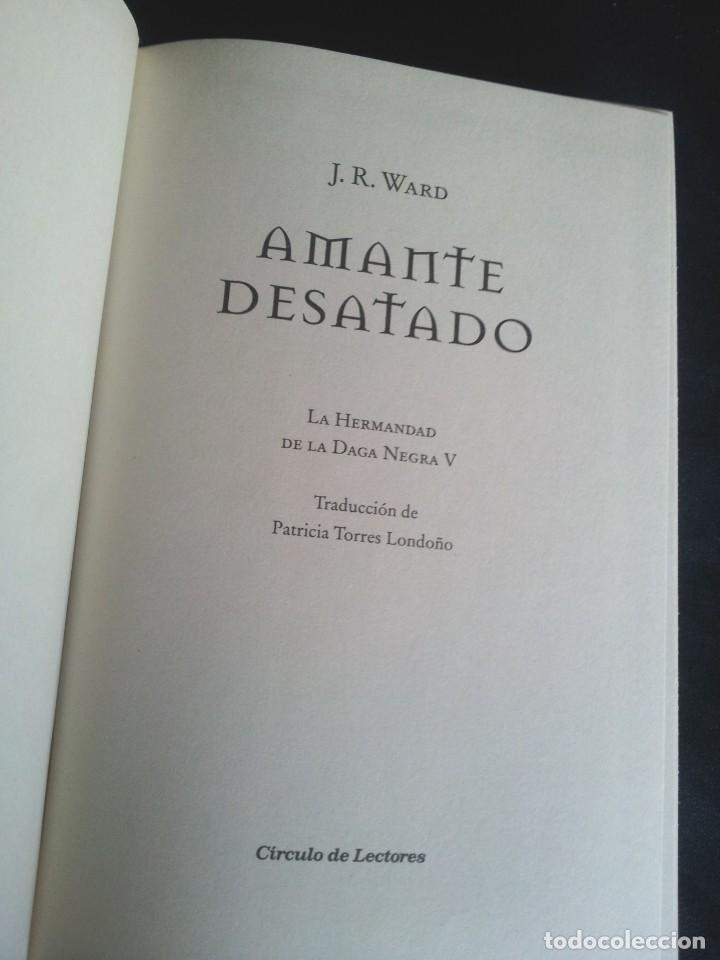 Libros de segunda mano: J.R.WARD - SAGA DE LA HERMANDAD DE LA DAGA NEGRA (5 TOMOS) - CIRCULO DE LECTORES 2010 - Foto 7 - 207872148