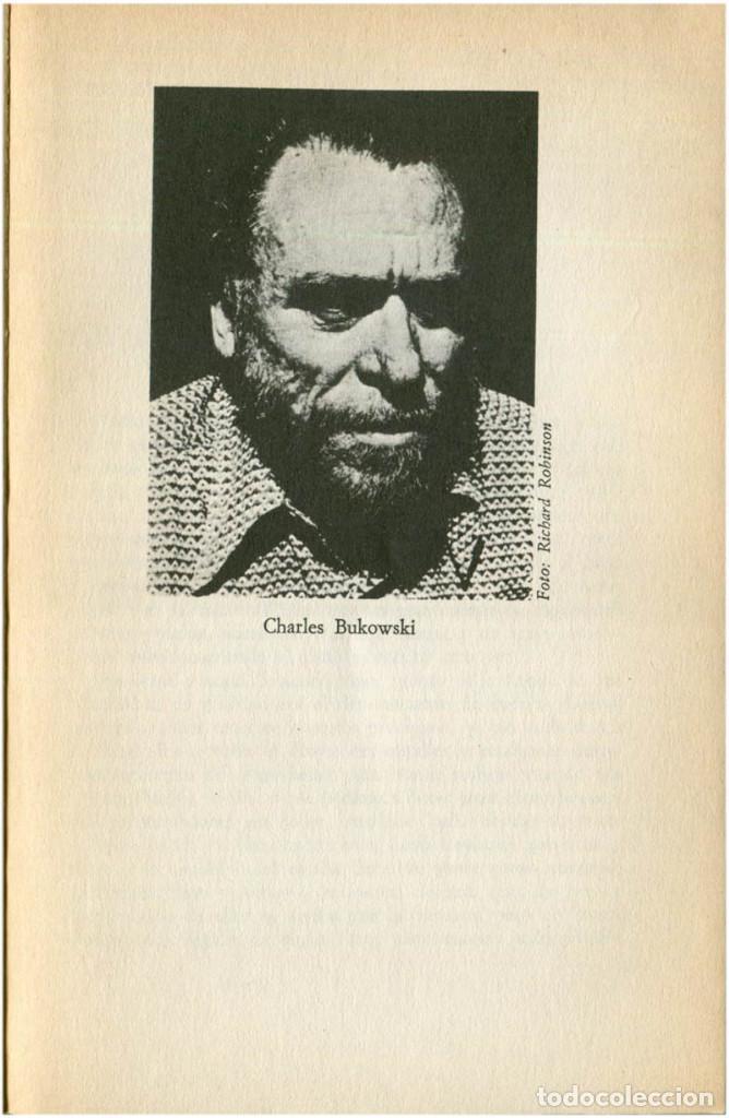 Libros de segunda mano: Bukowski - La máquina de follar - Ed. Anagrama, Contraseñas #9 - Barcelona, 1982 (3ª Ed.) - Foto 5 - 209392731