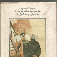 Livros em segunda mão: MARCEL PROUST. EN BUSCA DEL TIEMPO PERDIDO 4 SODOMA Y GOMORRA. ALIANZA. Lote 210376545