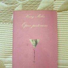 Libros de segunda mano: OPUS PISTORUM - HENRY MILLER - (ED. LA SONRISA VERTICAL). Lote 211880323