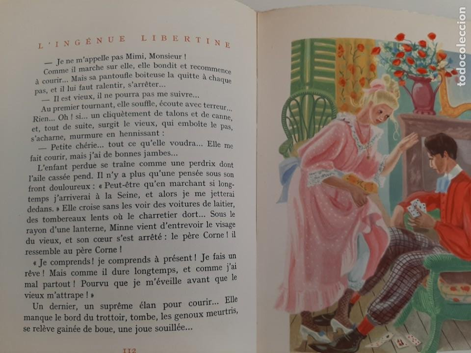 Libros de segunda mano: L´INGENUE LIBERTINE, COLLETE, NARRATIVA EROTICA, EJEMPLAR NUMERADO 2076 DE 3000, AÑOS 40 - Foto 5 - 213273892