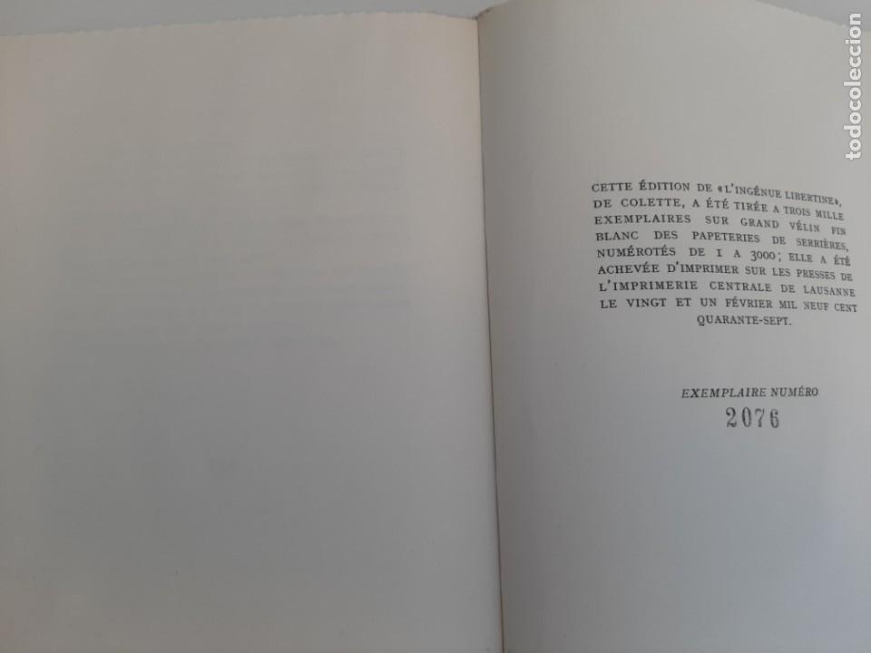 Libros de segunda mano: L´INGENUE LIBERTINE, COLLETE, NARRATIVA EROTICA, EJEMPLAR NUMERADO 2076 DE 3000, AÑOS 40 - Foto 4 - 213273892