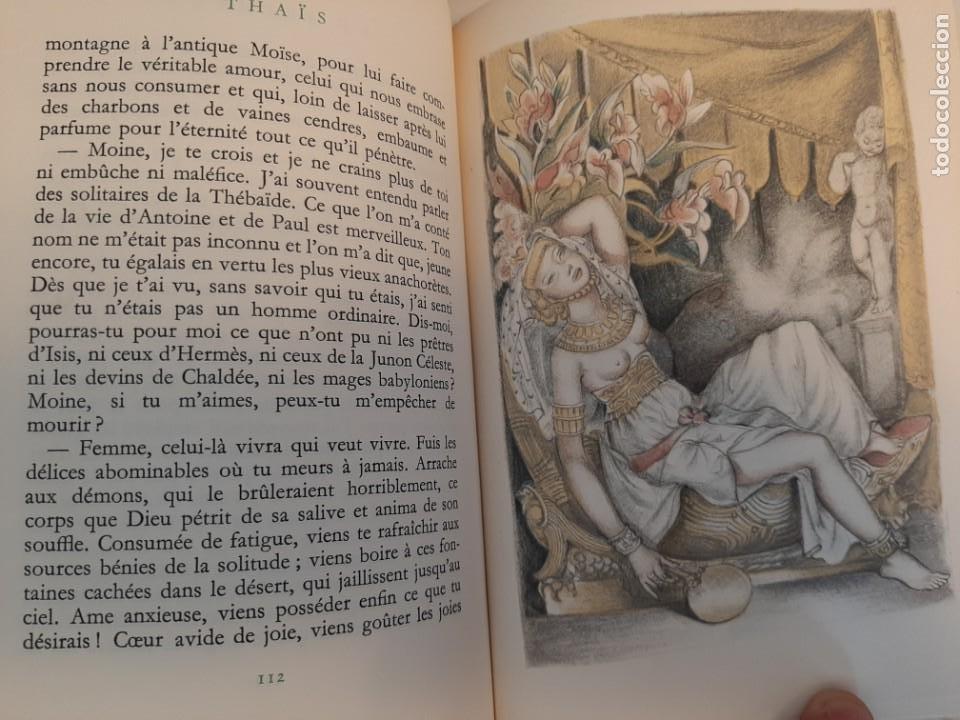 Libros de segunda mano: THAIS, ANATOLE FRANCE, NARRATIVA EROTICA, EJEMPLAR NUMERADO 974 DE 4000, AÑOS 40 - Foto 5 - 213276387