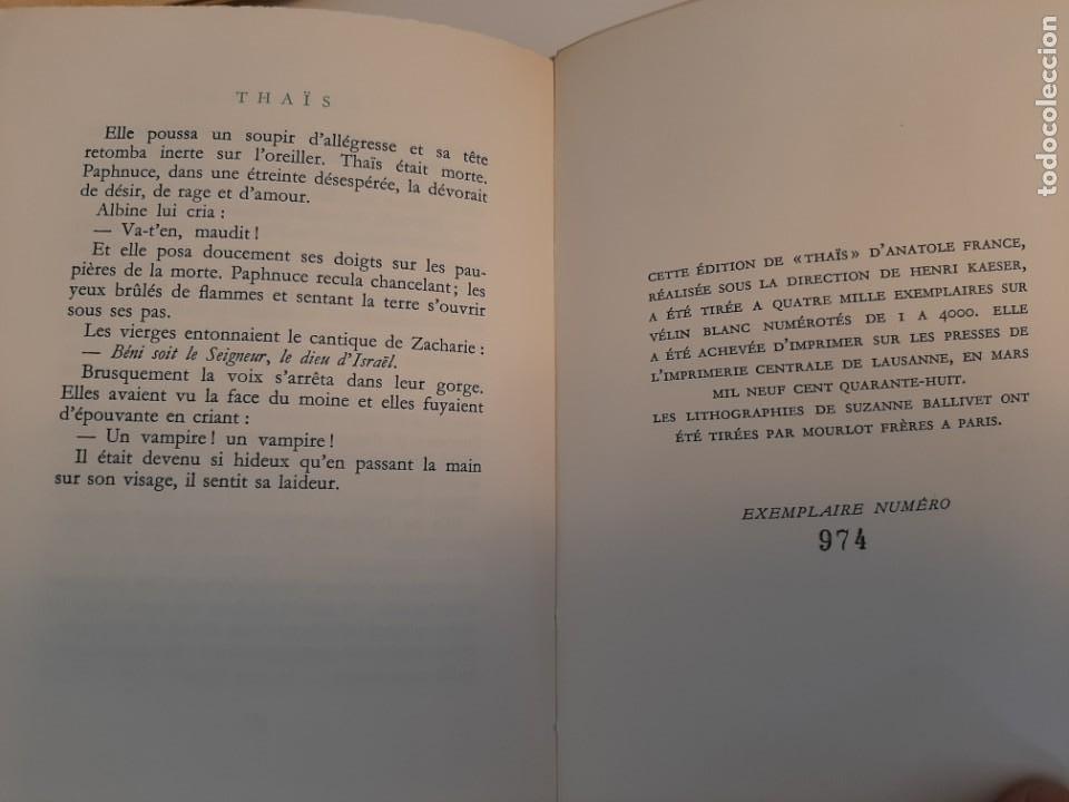 Libros de segunda mano: THAIS, ANATOLE FRANCE, NARRATIVA EROTICA, EJEMPLAR NUMERADO 974 DE 4000, AÑOS 40 - Foto 4 - 213276387