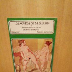 Livros em segunda mão: LA NOVELA DE LA LUJURIA. PRIMEROS GOCES DE UN HOMBRE DE MUNDO. NÚMERO 2. EDICIONES POLEN.. Lote 217617675