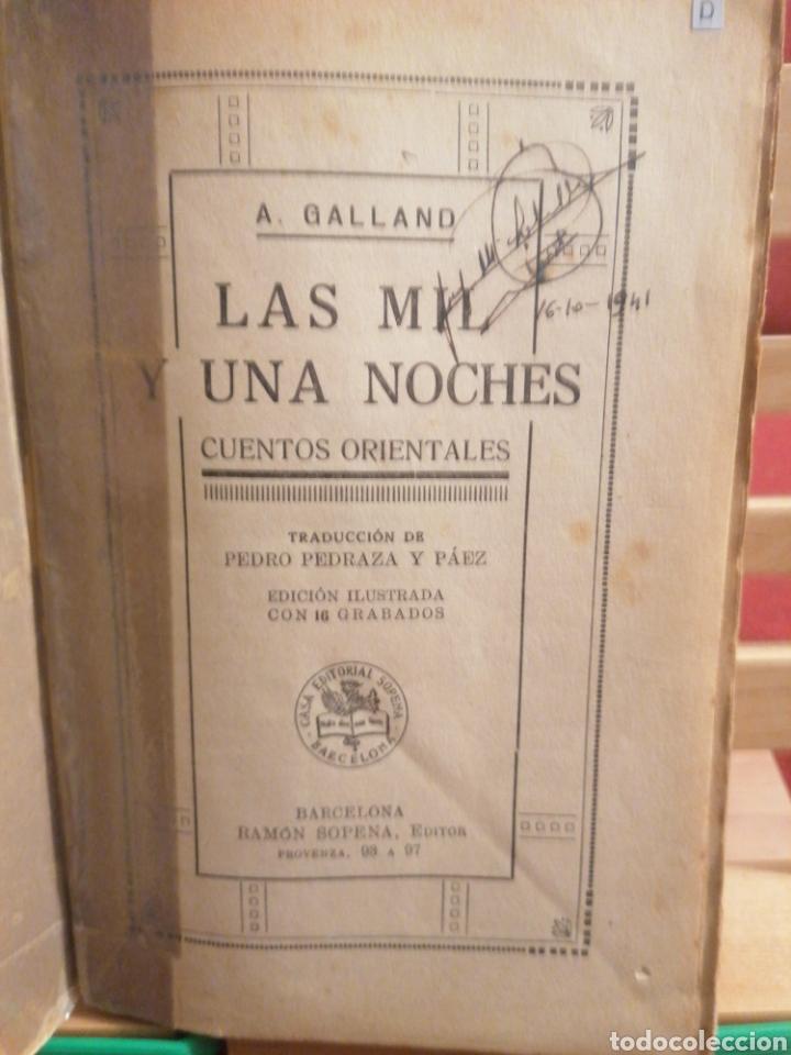 Libros de segunda mano: Las mil y una noches. A. Galland. Cuentos orientales Ramon Sopena, Ed. Barcelona, S/A. (Ca.1940) - Foto 4 - 224493695