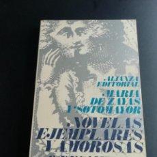 Libros de segunda mano: NOVELAS EJEMPLARES Y AMOROSAS O DECAMERÓN ESPAÑOL POR MARÍA DE ZAYAS Y SOTOMAYOR. Lote 225118016