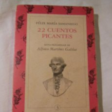 Libros de segunda mano: 22 CUENTOS PICANTES. 1998 FELIX MARIA SAMANIEGO. Lote 235220645