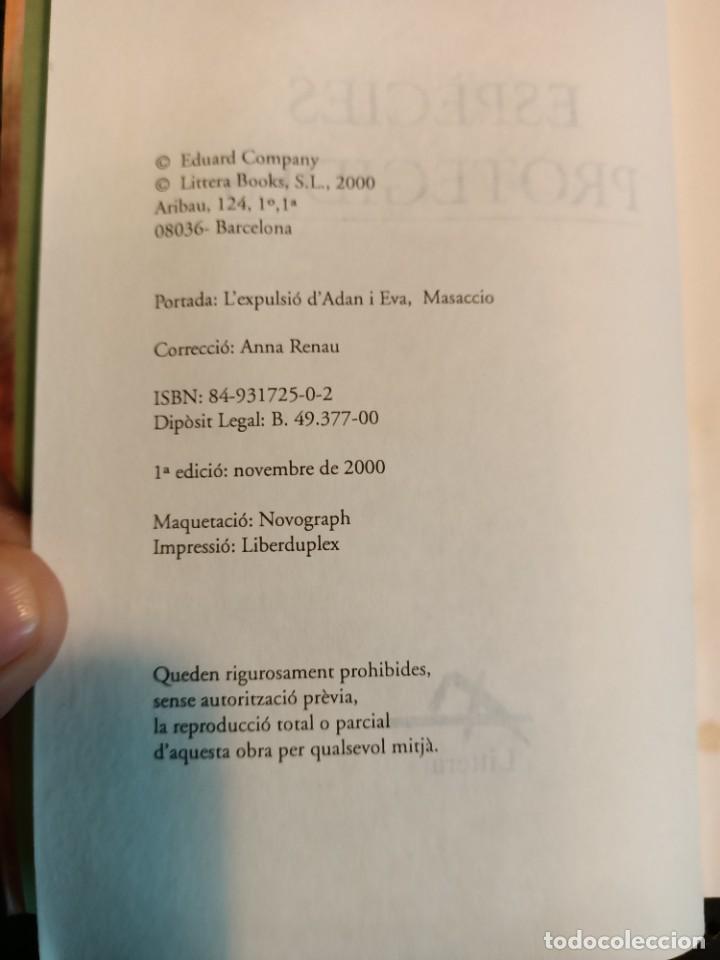 Libros de segunda mano: LIBRO ESPÈCIES PROTEGIDES, Eduard Company, 2000, MUY RARO DE CONSEGUIR - Foto 4 - 236074815