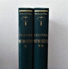 Libros de segunda mano: MEMORIAS DE CASANOVA. COLECCIÓN EL ARCO DE EROS. VOLUMEN I Y II. COMPLETA.. Lote 245444350