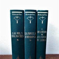 Libros de segunda mano: EL DECAMERÓN; LA NOVELA AMOROSA Y LAS MIL Y UNA NOCHES (VOLUMEN I). Lote 245446030