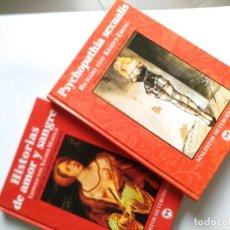 Libros de segunda mano: PARAFILIAS, DESVIACIONES. SACHER-MASOCH, RICHARD VON KRAFFT-EBING. PSYCHOPATHIA SEXUALIS. BERLANGA. Lote 245596340