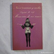 Libros de segunda mano: LA SONRISA VERTICAL N.º 30. NUEVE SEMANAS Y MEDIA. MEMORIAS DE UN AMOR - ELIZABETH MCNEIL - TUSQUETS. Lote 255460575
