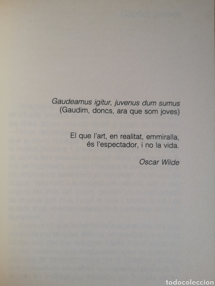 Libros de segunda mano: JOSEP. M. MORRERES. Gaudeamus igitur. Premi La piga 1989. 1a ed. Pòrtic Bcn, abril 1990 (com nou). - Foto 5 - 261880065