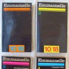 Libros de segunda mano: EMMANUELLE - 4 LIBROS - UNIÓN GÉNÉRALE D'ÉDITIONS 1974 - VER DESCRIPCIÓN Y FOTOS. Lote 263001870
