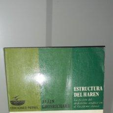 Libros de segunda mano: ESTRUCTURA DEL HAREN. Lote 270657013